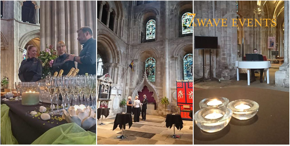 7th wave events at Romsey Abbey for a canape evening.