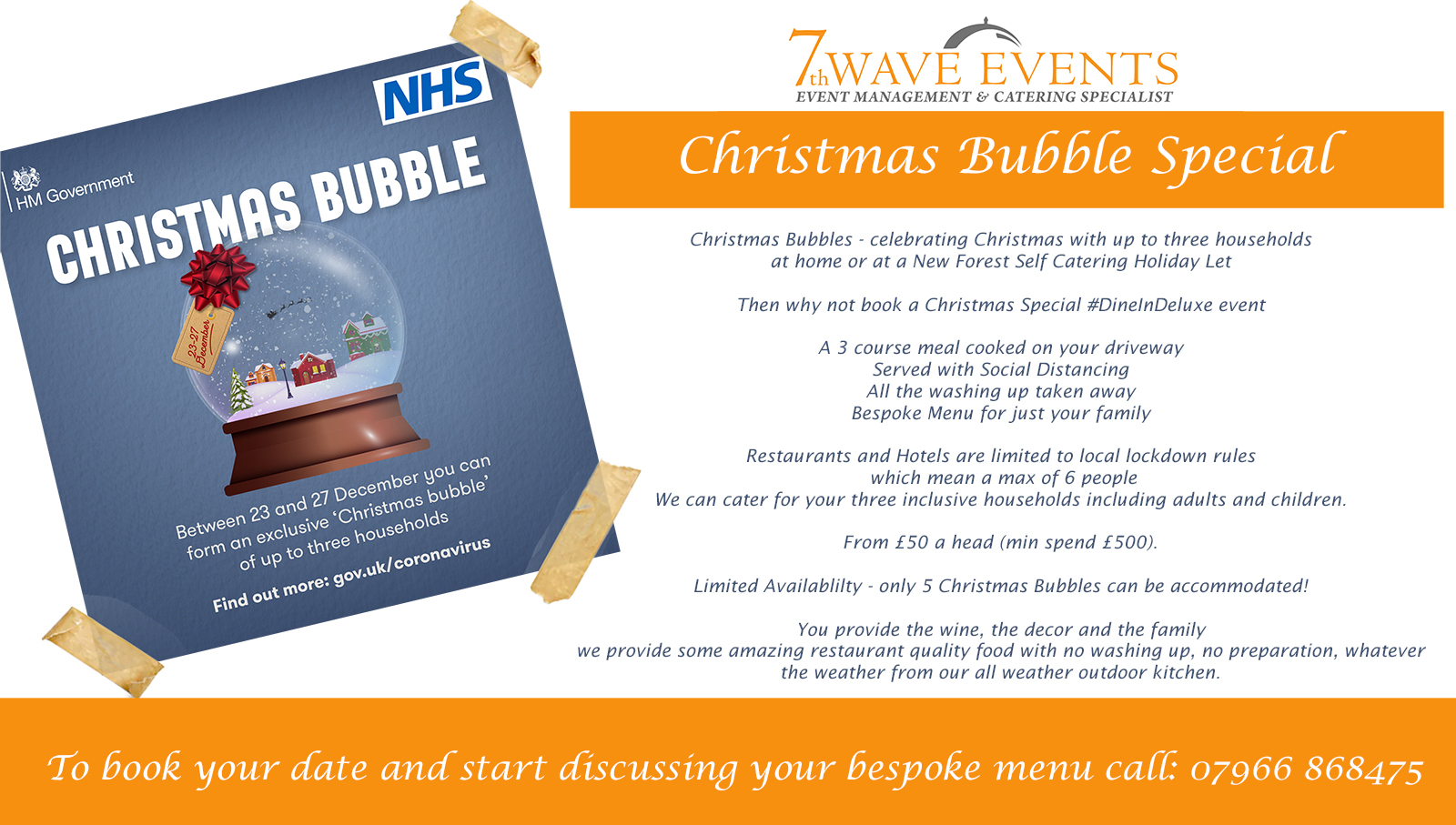 Christmas Bubbles Dine In Deluxe